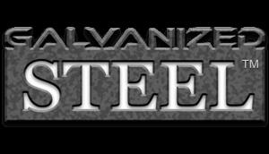Galvanized steel logo