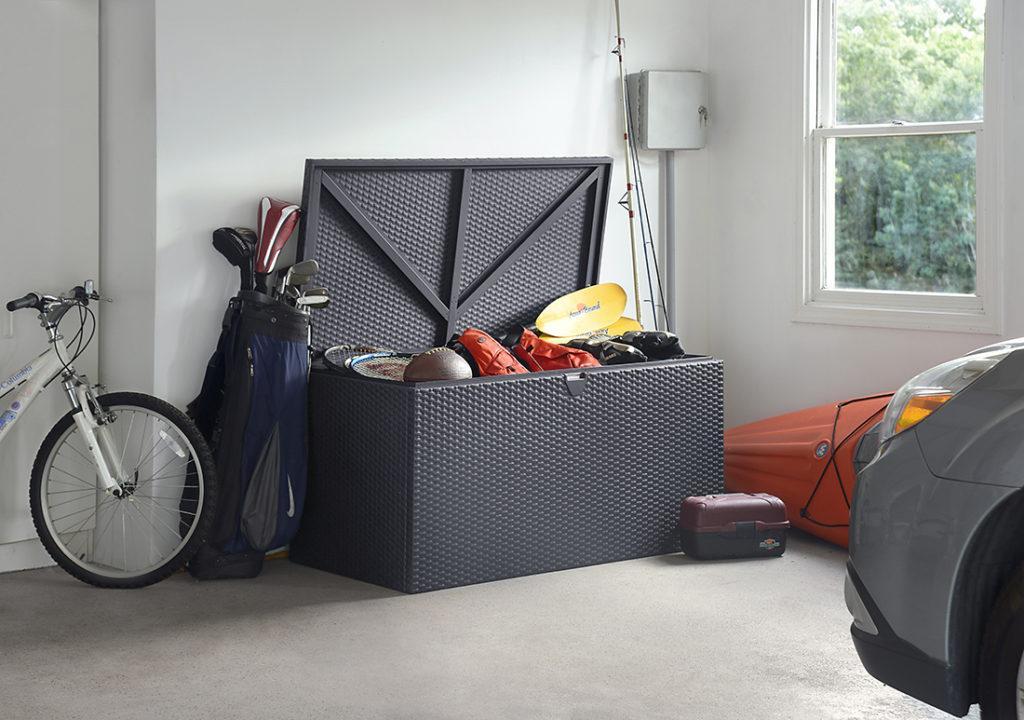 Spacemaker Deck Box in a garage