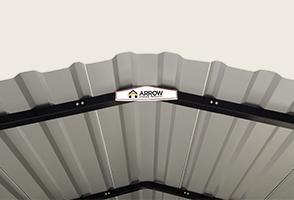 Close up of Arrow Carport roof line