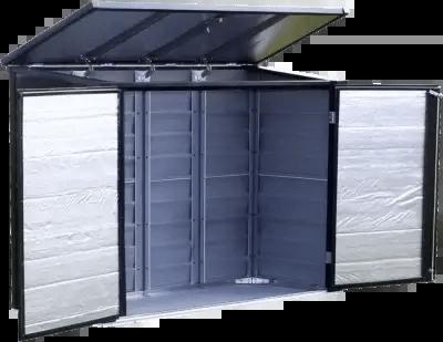 Spacemaker Versa-Shed open doors