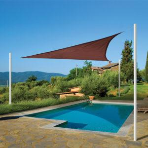 12 ft. / 3,7 m Triangle Shade Sail – Terracotta 230 gsm