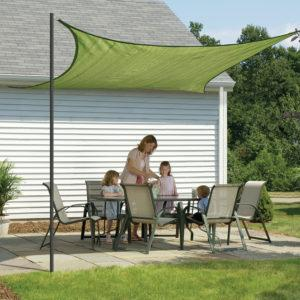 16 ft. / 4,9 m Square Shade Sail – Lime Green 230 gsm