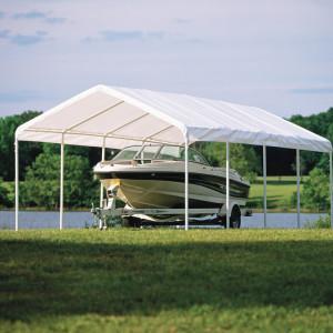 12×26 Canopy, 2″ 10-Leg Frame, White Cover