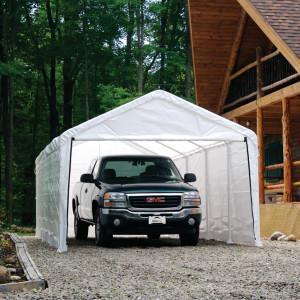 12×26 White Canopy Enclosure Kit, Fits 2″ Frame