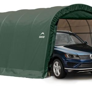 12x20x8 ft. / 3,7×6,1×2,4 m Round Style Shelter, 1-3/8″ / 3,5 cm 6-Rib Frame, Green Cover