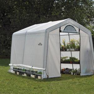 3x3x2,4 m Peak Style Grow It Greenhouse-in-a-Box with Side Vents, 2-Zipper Door with Screened Window, Back Panel with Screened Window