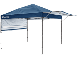 Solo Steel Pop-up Canopy with Awning