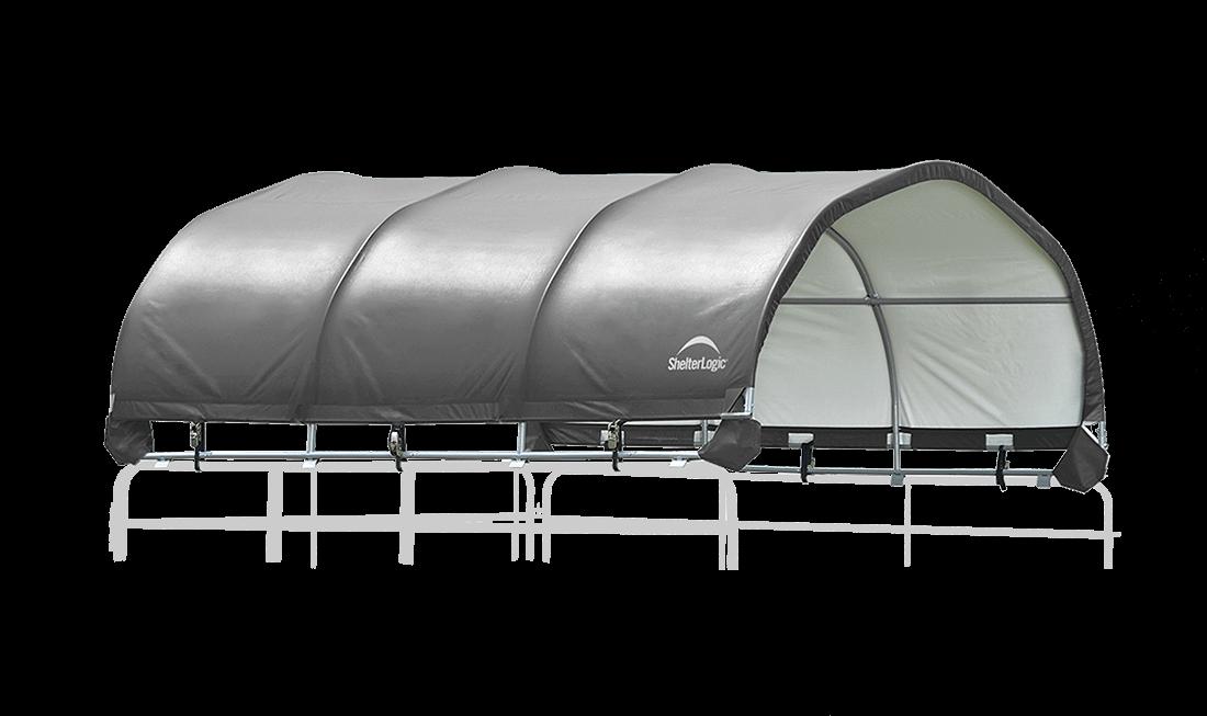 corral shelter grey livestock shade