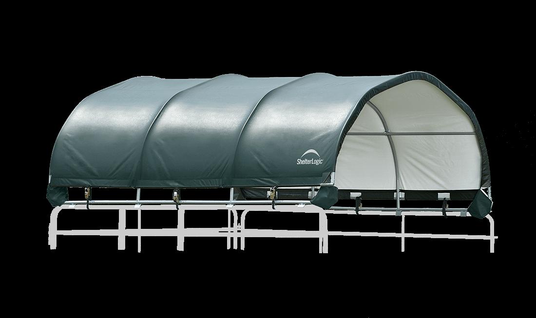 corral shelter green livestock shade