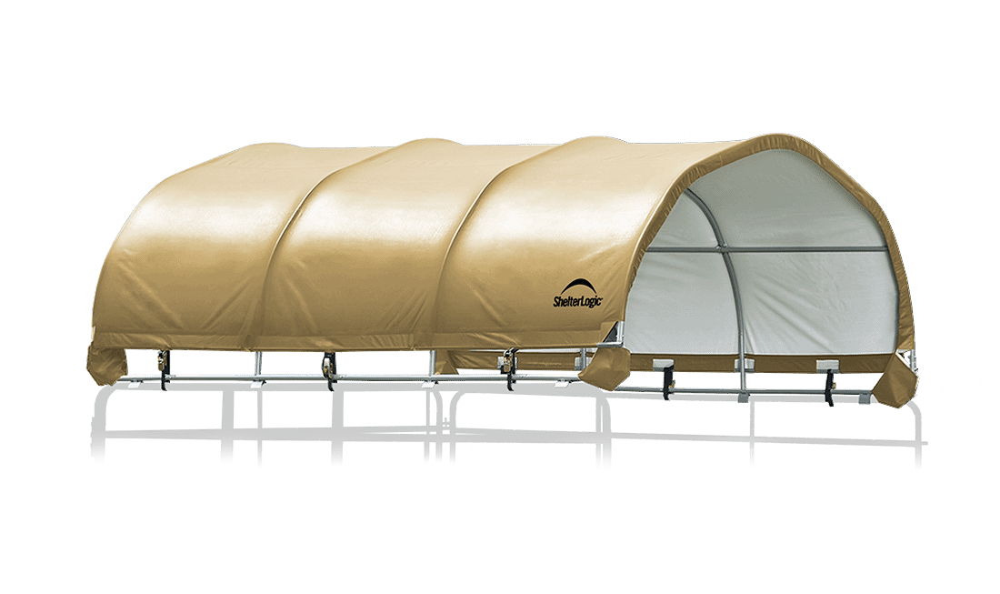 corral shelter tan livestock shade