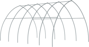 High Tunnel Greenhouse frame only