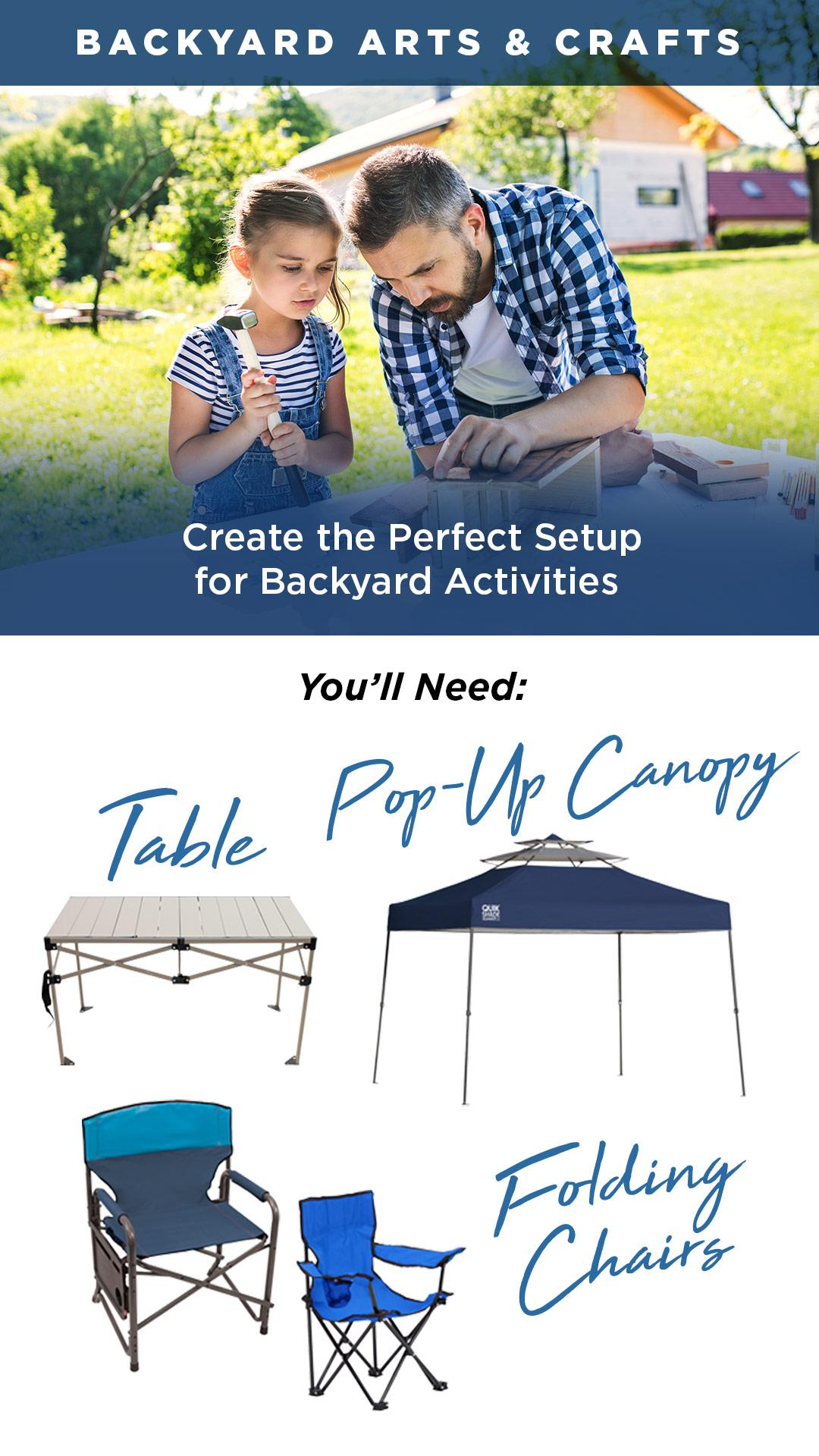 What you'll need for backyard arts and crafts