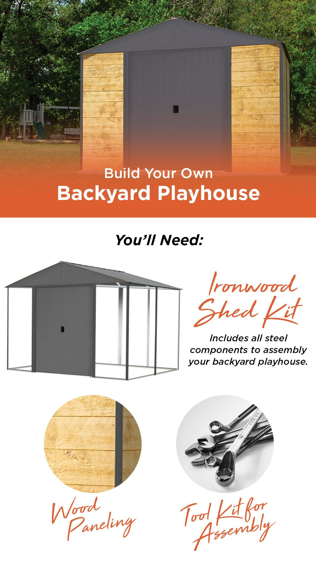 Build Your Own Backyard Playhouse