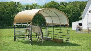Equine Shelter Tan Corral Shelter