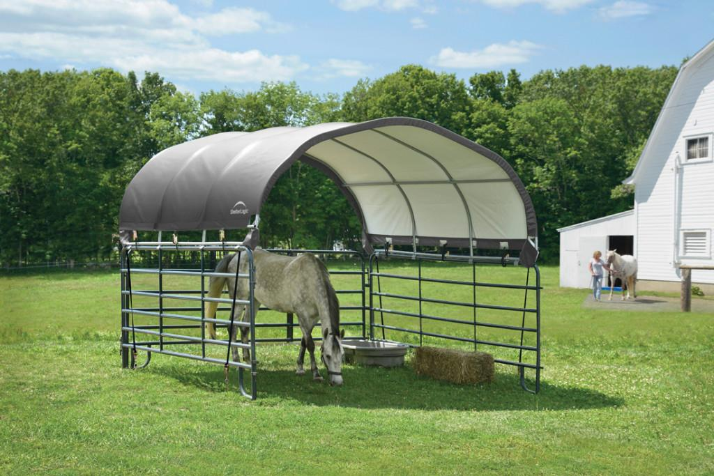 Corral shelter livestock shade