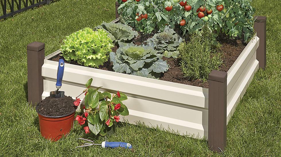 patio decorating ideas, raised bed garden