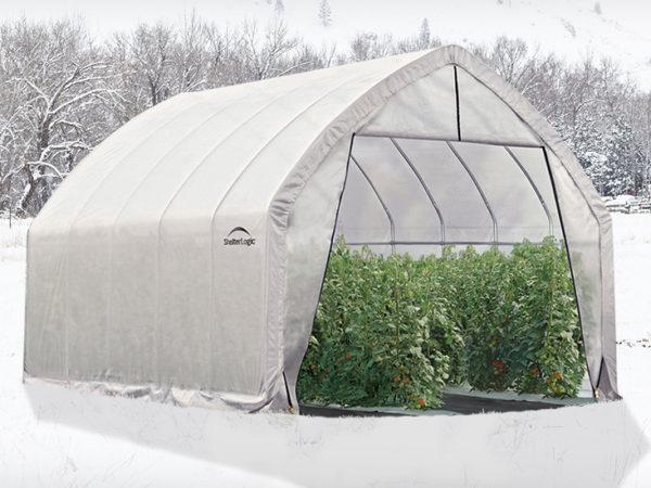 winter greenhouse, backyard greenhouse, tall greenhouse