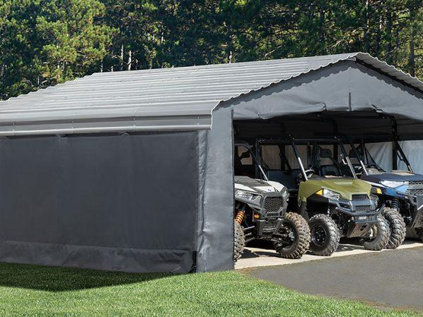 How to Transform a Freestanding Carport Into a Year-Round Shelter