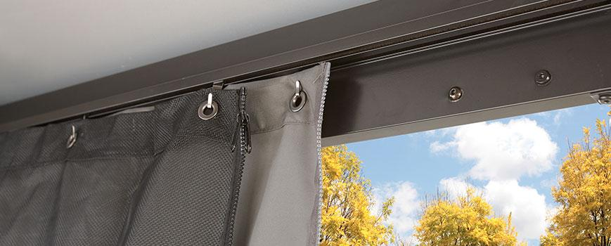 How gazebo curtains attach to the structure