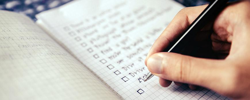 make a checklist
