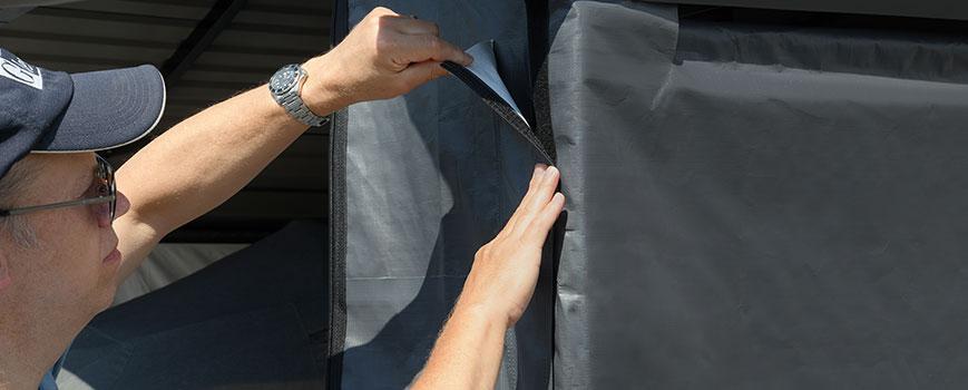 Installing an enclosure kit on an Arrow Carport