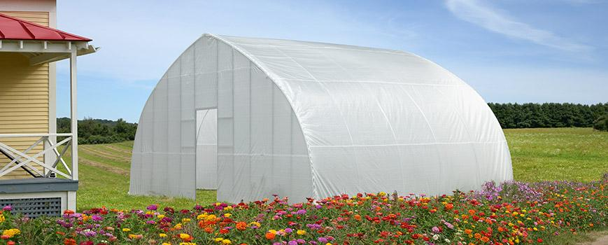 High Tunnel Greenhouse Flowers