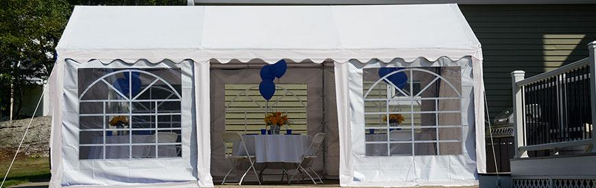 Party Tent with Enclosure Kit