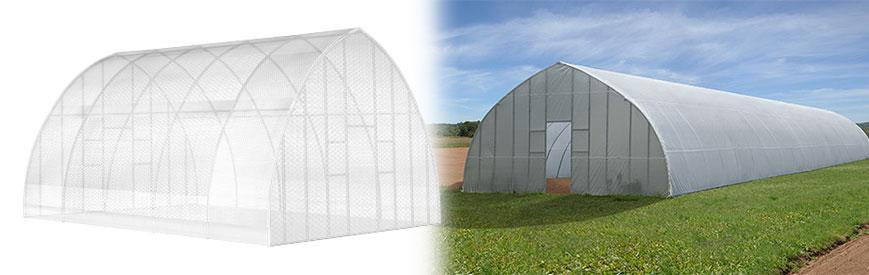 High Tunnel Greenhouse Header