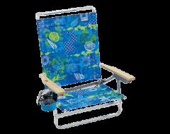 RIO Beach Classic 5-Position Lay-Flat Beach Chair