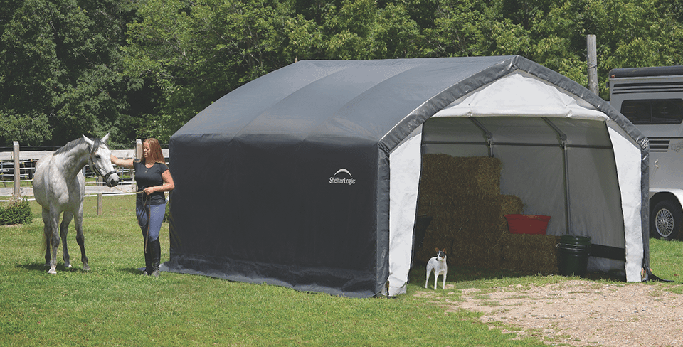 AccelaFrame HD Shelter Storage Tent Outdoor garage outdoor storage hay storage farm storage
