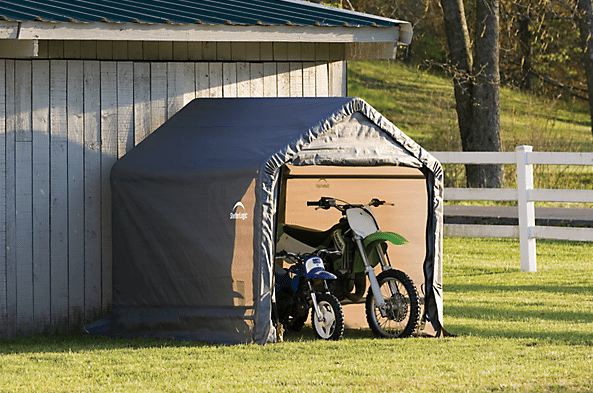 portable outdoor sheds, tarp buildings, fabric sheds, shed-in-a-box 6 x 6 ft., 6 x 6 ft. shed, garden shed