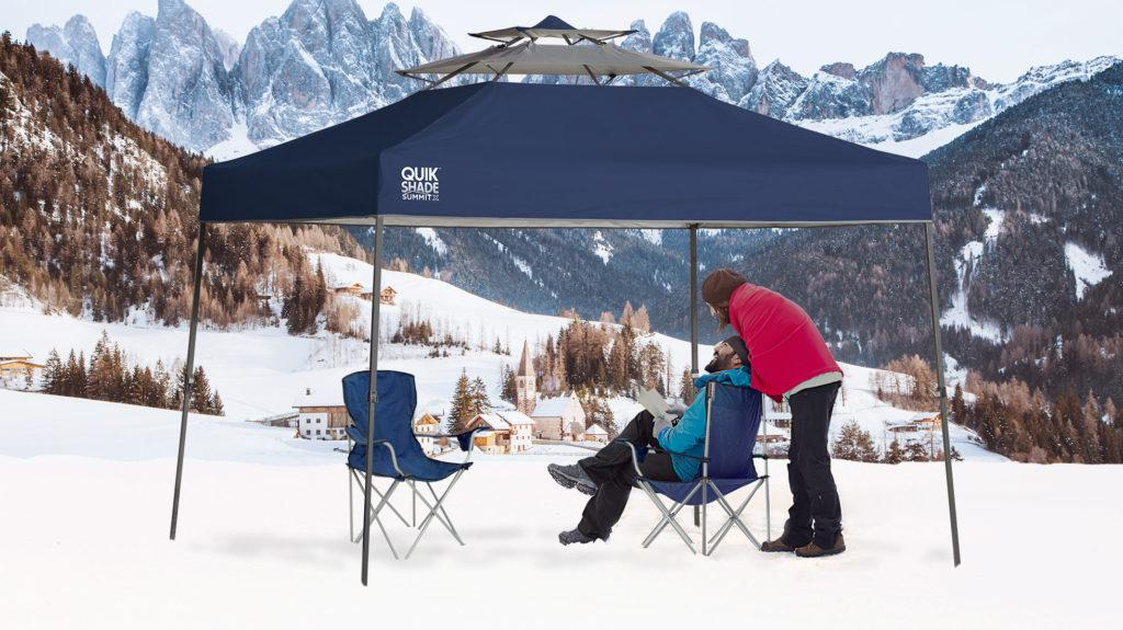 winter sports, quik shade, canopy, winter gear