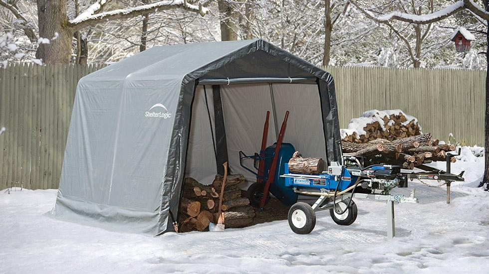 winter storm prep, shed in a box, winter shed
