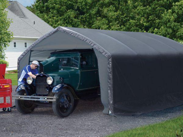 Creative Backyard Garage Solutions
