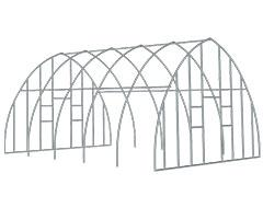 high tunnel frame and end panel