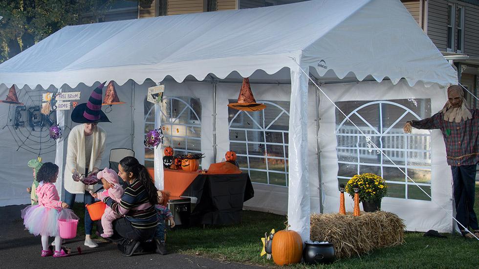 Safe Halloween Candy Station