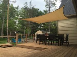 Scott's outdoor patio and Shade Sail