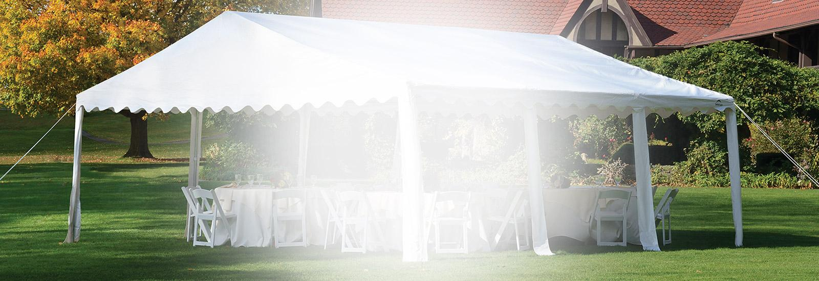 Party Tent Homepage Banner Background