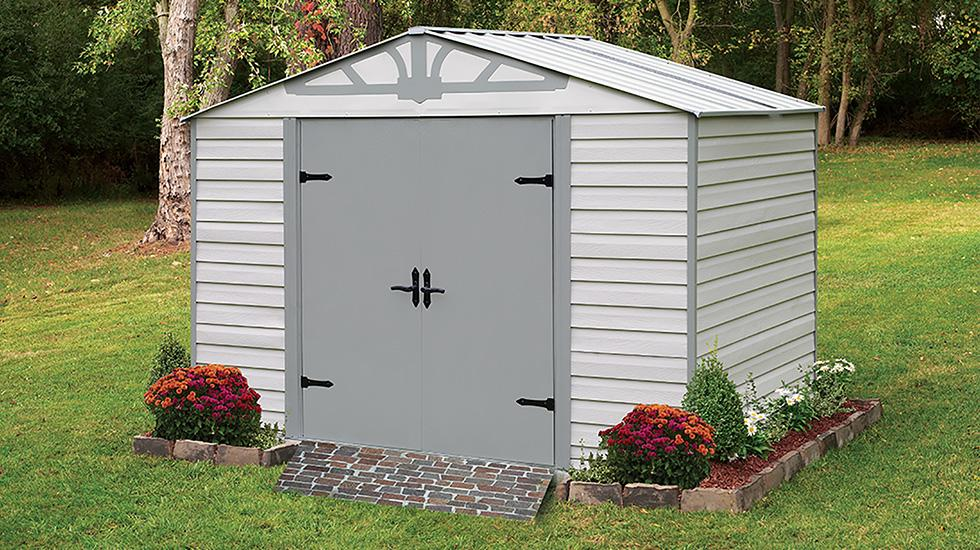 steel storage shed, admiral steel shed, arrow shed