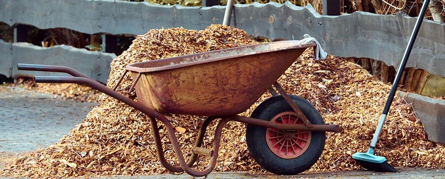 wheelbarrow backyard landscaping design